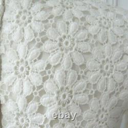 Vintage 1960's Wedding Dress Empire Line Nylon w Cotton Daisy Lace Size 6