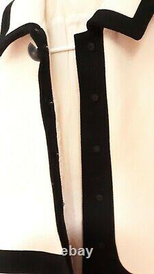 Vintage 1960s Dress Mod Cream White Color Block Line Henry Harris Cincinnati 60s