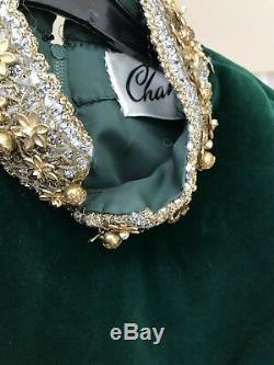 Vintage 1960s Womens Atrima Emerald Green Velvet Lined Dress Mod Gogo UK10