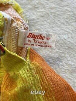 Vintage 1972 Kenner Blythe Doll Brunette Original Dress Eyes Working 70s 6 Lines