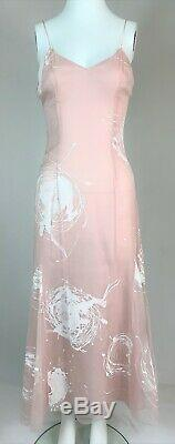 Vintage 2001 Christian Dior by John Galliano 50's Style A-Line Pink Dress