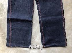 Vintage 40s 50s Deadstock Aldens 34x32 Flannel Lined Denim Jeans Crotch Rivet