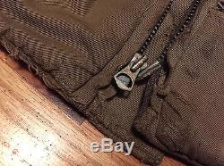Vintage 40s WWII US Army Tanker 2nd Pattern Lined Elbow Patch Field Jacket Rare