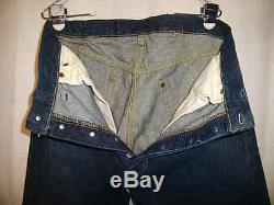 Vintage 501XX Big E Buckle Back Riveted Crotch Jerky Tag Red Line USA 34x30 1/2