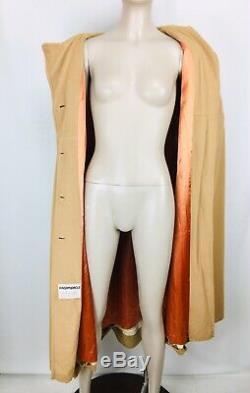 Vintage 60's Kashmiracle by Wellington Cape Dress Coat Arm Holes Lucite Buttons
