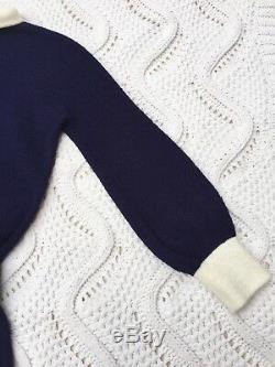 Vintage 60s 70s St John Boucle Knit Mock Neck Dress A-Line Women's Small G4