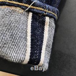 Vintage 60s Levis 501 Selvedge Red Line Denim Blue Jeans Big E 28 X28