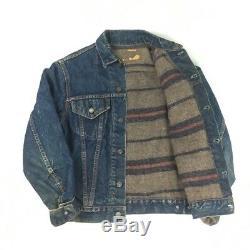 Vintage 60s Levis Big E Blanket Lined Type III Denim Trucker Jacket