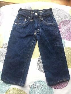 Vintage 60s Levis Big E Red Line Single Stitch Denim Toddler Size Little Wear