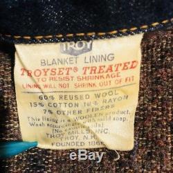 Vintage 60s Levis Type 3 denim trucker jacket big e blanket lined size 40