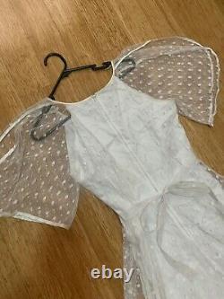 Vintage 70's Vera Mont White Wedding/ Prairie Dress