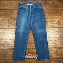 Vintage 70s Levis 501 Red Line Selvedge Jeans Size 30x28 USA 524