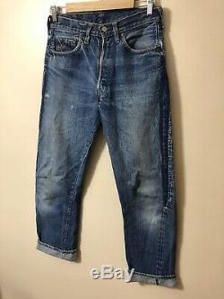 Vintage 70s Levis Redline Red Lines 501 Selvedge S S Jeans 29-30 No Big E