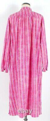 Vintage 70s MARIMEKKO Pink Purple Red Striped Shift A-Line Dress withPockets