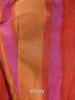 Vintage 70s Marimekko Bright Mod Belted A Line Skirt Dress Tagged 12 (XS/SM)