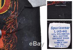 Vintage 80s 1984 DIO The Last in Line Heavy Metal Rock Concert Tour T Shirt RARE