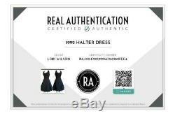 Vintage 90s Dolce & Gabbana Black Halter Ballerina Style Crinoline Lined Dress 2