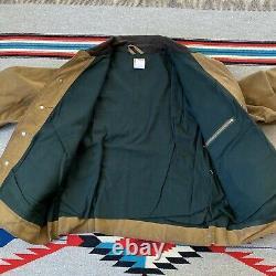 Vintage 90s Filson Tin Cloth Feild Blanket Lined Jacket Mens Size Large USA Made