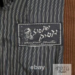 Vintage 90s JEAN PAUL GAULTIER Corduroy Blazer-Dress Sz S in Gingerbread Cotton