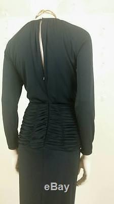 Vintage 90s lined black long gown dress by Oscar De La Renta Studio size 4