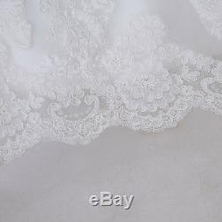 Vintage A Line Sheer Back Chapel Train Long Sleeve Lace Wedding Dress