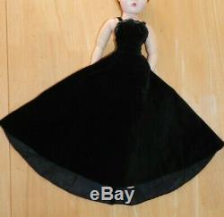 Vintage Alexander Cissy Tagged Black Velvet A Line Gown / Dress