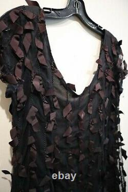 Vintage Anna Sui Black Dress with bow detail Size M