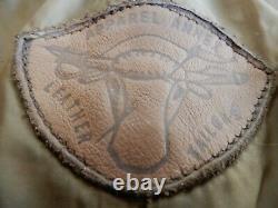 Vintage Apparel Annex Brown Leather Lined Pants Mens 34 x 30 Motorcycle Pants