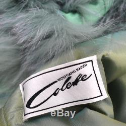 Vintage Arctic Fox Fur Lined Divisible Hood Parka Anorka Wadded Winter Coat Cape