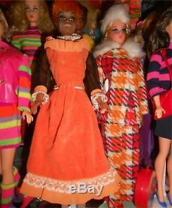 Vintage Barbie Party Lines #3490 Extraordinarily Rare Orange Velvet Variation