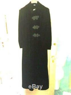 Vintage Black Velvet Bonwit Teller Opera Coat/Dress Size 10 Goth 1970's