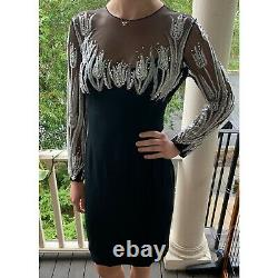 Vintage! Bob Mackie Tulip Beaded Cocktail Dress- GREAT Condition! Size 2