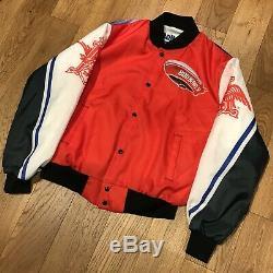Vintage Budweiser Fanimation Jacket Bud Bowl V 1989 Super Bowl NFL Chalk Line XL