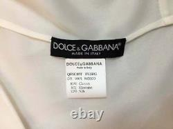 Vintage C. 1999 Dolce & Gabbana Plunging Pin-Up A-line Sheer Ivory Mini Dress