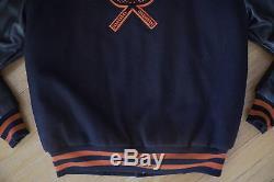 Vintage CENTER LINE High School PANTHERS Hip Hop Varsity LETTERMAN Jacket Size M