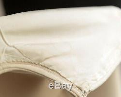 Vintage COURREGES Ivory Wool Mod A-Line Dress c. 1960's generous size 12