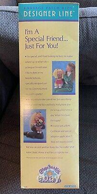 Vintage Cabbage Patch Kids Designer Line Blonde Green Eyes Boy Rupert Walter NIB