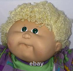 Vintage Cabbage Patch Kids Designer Line HTF Button Dress Crimped Hair 1989
