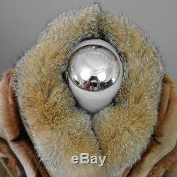 Vintage Camel GOAT Fur LINED Coat Shaggy Fox Fur Maxi Parka Tent Blanket 70s S/M