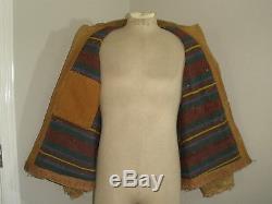 Vintage Carhartt 30's 40's FULLY BLANKET LINED DUCK Distressed Coat Jacket 42-44
