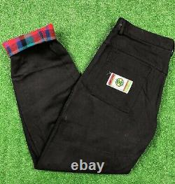 Vintage Cross Colours Clothing Shirt Matching Flannel Lined Pants Jeans Black
