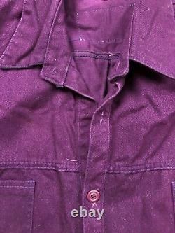 Vintage Cross Colours Clothing Shirt Matching Pants Jeans Flannel Lined Purple
