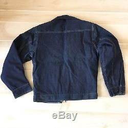 Vintage Deadstock Big Smith Chore Trucker Rancher Jacket Lined 36 Union Made