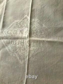 Vintage Demask Cunard White Star Transport Lines Table Cloth