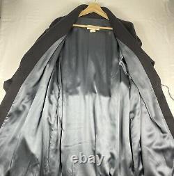 Vintage Diamond Tea 100% Cashmere Robe 100% Silk Lined Black Size M Dress Gown