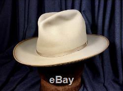 Vintage Dobbs Open Road Westward 20 Top of the Line Hat Beige 7
