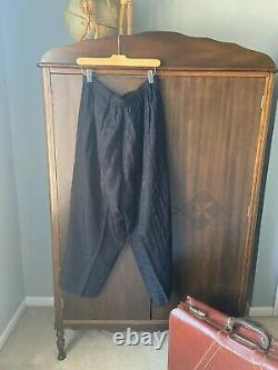 Vintage FLAX clothing reversible tunic (L) and pants (1G) set Black, Perfection