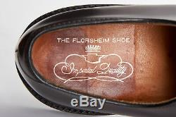 Vintage FLORSHEIM IMPERIAL V-Cleat Shoes 12 B Shell Cordovan Brown Kenmoor PTB