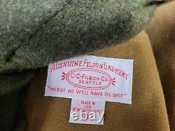Vintage Filson Tin Cloth Packer Jacket Mackinaw Wool Lining Work 10002 Nice XL