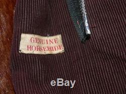 Vintage Fur Lined Horsehide Motorcycle Jacket